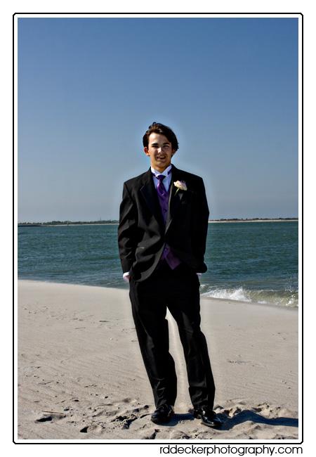 Zack strikes a pose on the beach, Ft. Macon State Park, Atlantic Beach, NC