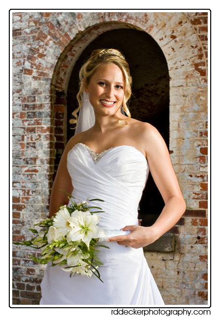 Fort Macon State Park Bridal Portrait