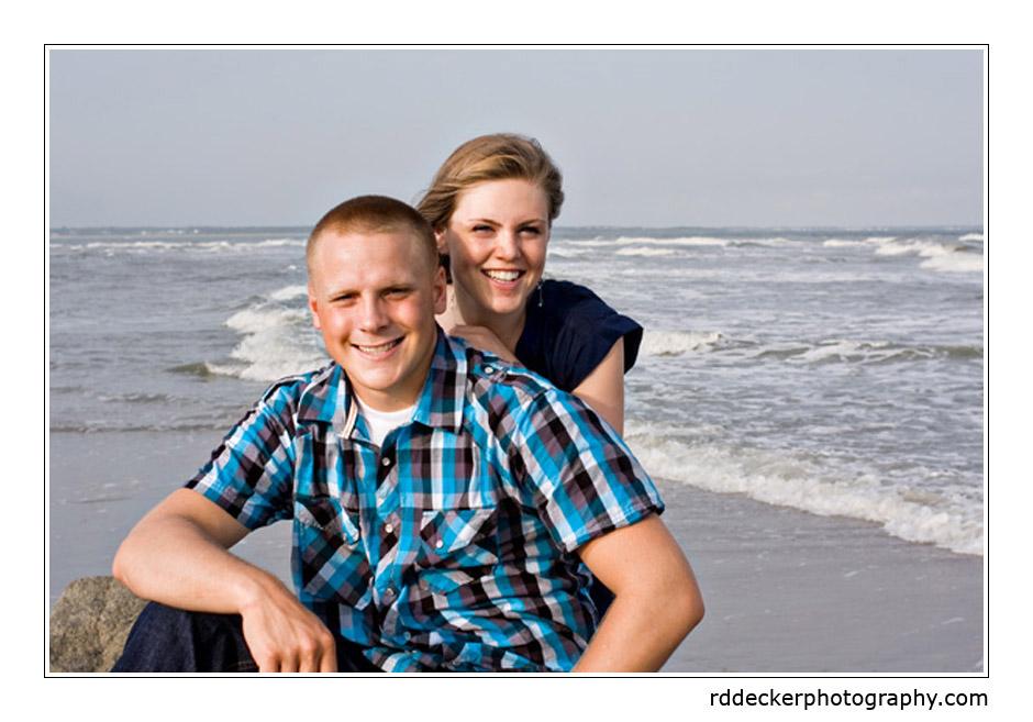 Jordan and Josh on Atlantic Beach, North Carolina.