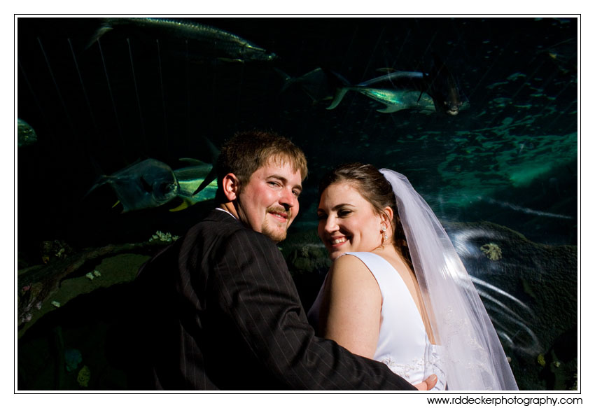 Amy and Jason have a great time at the NC State Aquarium at Pine Knoll Shores.