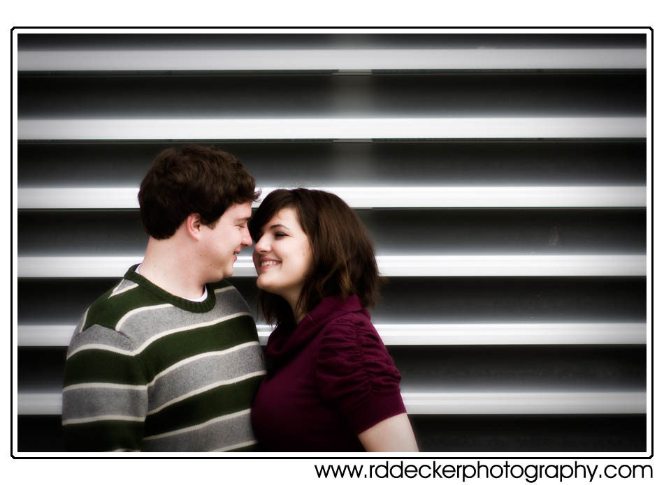 Amy & Michael's engagement shoot near Newport Elementary school.