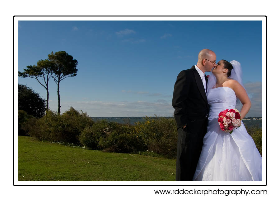 Samantha and Richard along the bands of Bogue Banks at the Country Club of the Crystal Coast, Pine Knoll Shores, NC