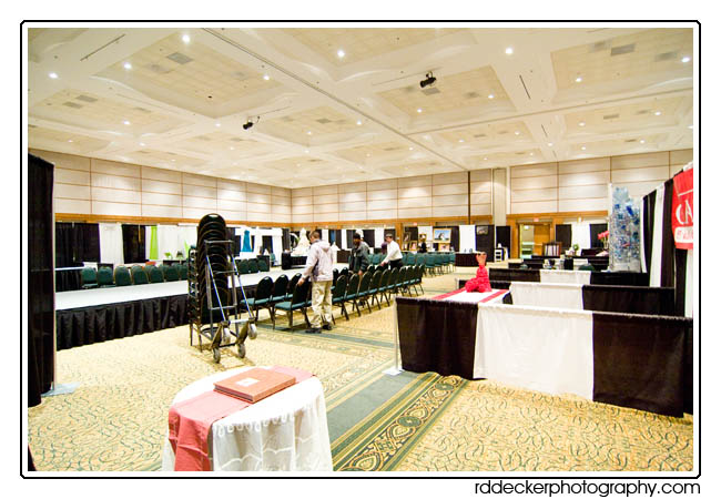 R. D. Decker Photography bridal show booth, New Bern, NC.