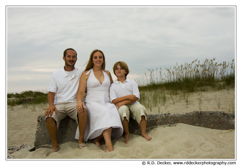 Family Beach portrait, Atlantic Beach, North Carolina.