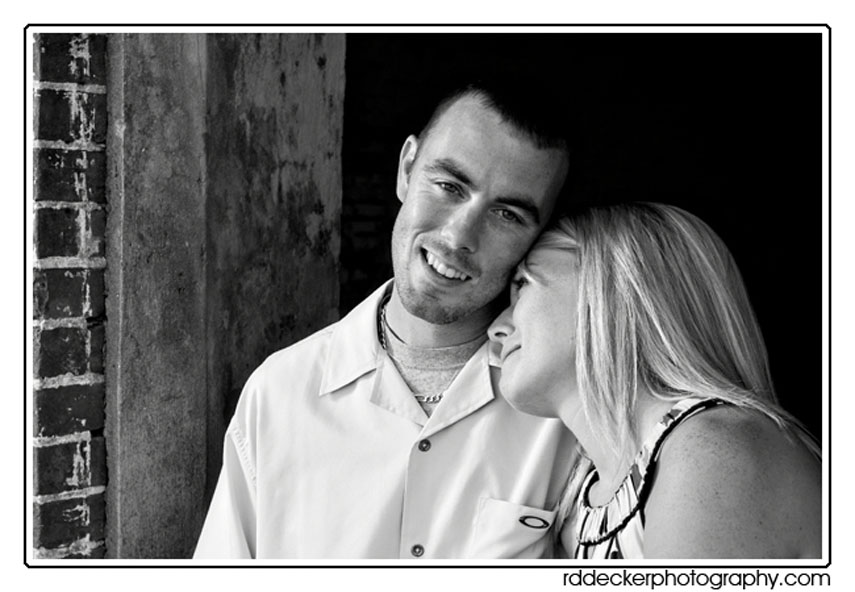 Elizabeth and Matt at Fort Macon State Park.