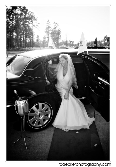 Bride, champaigne and a limo... it doesn't get much better than this!